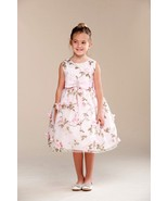 Posh Sweet Pink Floral Embroidered Flower Girl Party Dress, Crayon Kids USA - £45.34 GBP