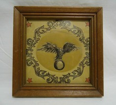 Eagle Textile Art Framed Puffy Quilted Fabric Wall Hanging Decor Vintage  - $12.99