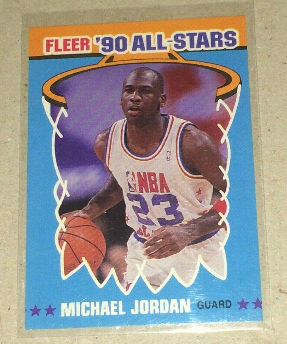 1990 FLEER ALL-STARS MICHAEL JORDAN #5 OF 12