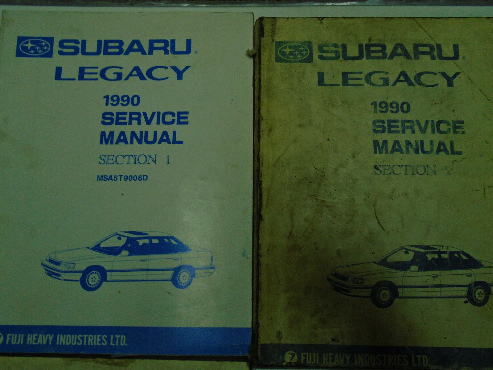 1990 Subaru Legacy Service Repair Shop Manual SET FACTORY FEO Books Incomplete