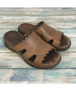 Dansko Eve Sandals Sz 6 Women's Brown Leather Slip On Boho Clog Sandals. - $32.69