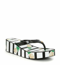 New! KATE SPADE ~Size 9~ Striped Print Signature Logo Wedge Sandals New ... - £31.71 GBP