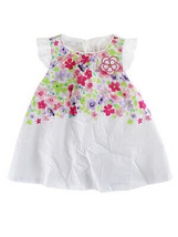 First Impressions Baby Girls Floral-Print Dress, Bright White, 12 Months - $21.50
