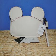 Coach X Disney Mickey Ears Leather Wristlet Ltd Edition Collection Chalk image 3