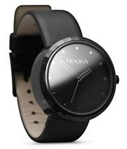 Nooka Unisex Black Night 360 Degree Rotating Case Quality Luxury Wrist Watch NIB image 2