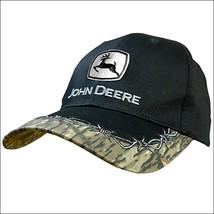 80275 JOHN DEERE LOGO MENS BARB WIRE ADJUSTABLE COTTON BASEBALL CAP BLAC... - $18.95