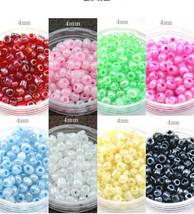 500Pcs/lot(about 50g/lot) 4mm Czech Glass Seed Beads Jewelry Making DIY ... - $69.59