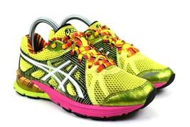 Asics Gel Preleus Women's Running Training Shoes Yellow Pink T480N Size 6 - $39.39
