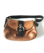 Coach Cognac Brown Leather Buckle Hobo Handbag Purse Bag - $179.99