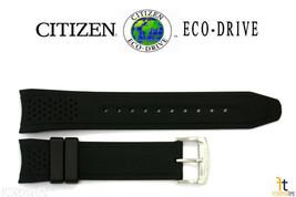 Citizen Eco-Drive CA0427-08E Original 22mm Black Rubber Watch Band CA042... - $64.95