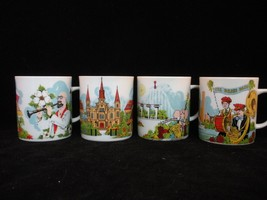New Orleans 4 Cup Mug Set Superdome Brass Band Audubon Zoo Pete Fountain... - $36.00