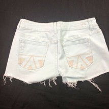 American Eagle Women's Green Cut Off Shorts 6 image 2