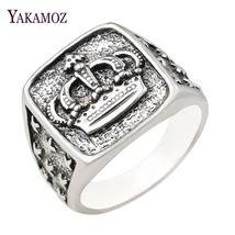 YAKAMOZ New Arrival King Queen Crown Signet Ring for Men Women Vintage S... - $13.67