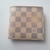 Authentic Louis Vuitton Damier Azur Mens Wallet 4in x 4in(CA2057) - $189.95