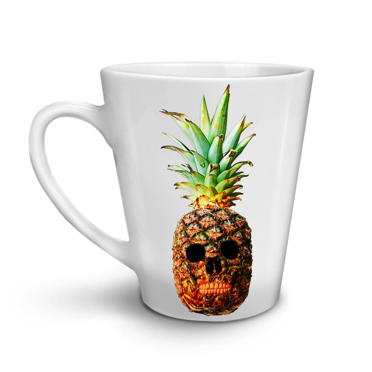 Pineapple Skull Face NEW White Tea Coffee Latte Mug 12 17 oz | Wellcoda