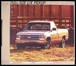 1988 Chevy Chevrolet Pickup Truck C/K Brochure - $6.29