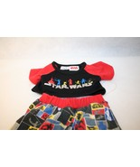 Build a Bear Workshop BABW Star Wars PJ pajamas plush outfit Jedi Red Bl... - $29.95