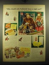 1949 Borden's Milk Ad - Why should only husbands have a night out? Said Elsie - $14.99