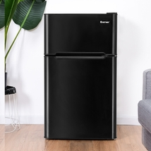 3.2 cu ft. Compact Stainless Steel Refrigerator-Black - Color: Black - $323.42