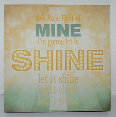 Lyricology 102980 This Little Light of Mine Wall Art 12 Square Inches