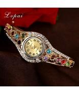 Lvpai® Luxury Watch Women Gold Flower Casual Quartz Crystal Dress Vintag... - $5.88