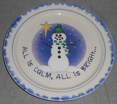 1998 Set (4) Atico International ALL IS CALM Dinner Plates CHRISTMAS - H... - $23.75