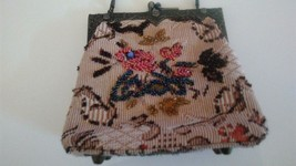 Vintage beaded purse and embroidery small - $45.95