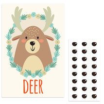 Forest Deer Pin The Nose Birthday Party Game - £16.17 GBP