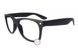 Matte Black Retro Classic Fashion Glasses Frame Unisex Eyewear No Lens - $5.93