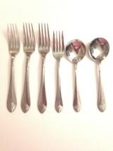 Amsilco Flatware Silverware Lot Forks Soup Spoons Dinnerware - $28.54