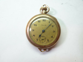 ELGIN GOLD FILLED VINTAGE WATCH FOR RESTORATION REPAIR OR TRENCH PARTS - $144.16