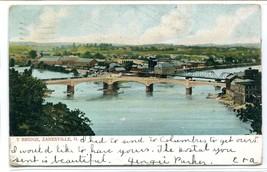Y Bridge Zanesville Ohio 1906 postcard - $5.89