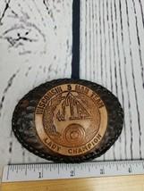 Wisconsin Trapshooting Association LADY CHAMPION 5 Man Team Leather Belt... - $26.92