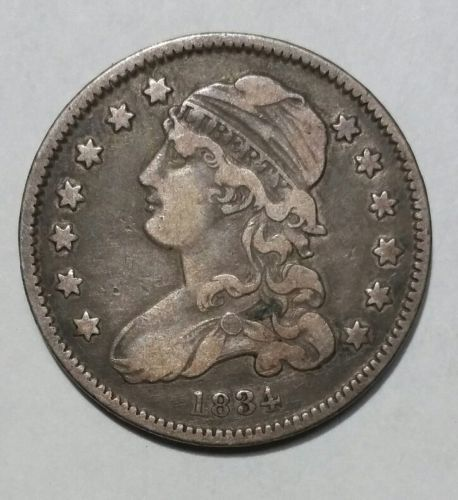 1834 Capped Bust Quarter Dollar 25¢ Coin Lot# MZ 4697
