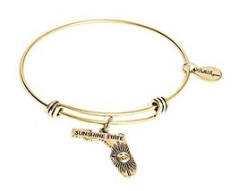 State of Florida Charm Bangle Bracelet (gold-plated-base)