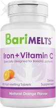 BariMelts Iron + Vitamin C, Dissolvable Bariatric Vitamins, Natural Orange Flavo - $30.68