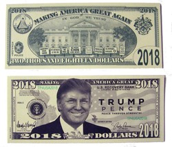 100 bills OF FAKE TRICK DONALD TRUMP / PENCE DOLLAR BILL play money dollars - $18.95