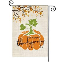 Happy Thanks Giving Garden Flag, Welcome Vertical Double Sided Pumpkin Y... - $13.07