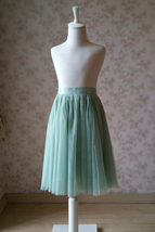 Sage Green Flower Girl Tutu Skirt Wedding Party Sage Green Girl Tulle Skirt 1-14