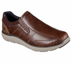 Men's Skechers Montego - Alvaro Loafer Shoes, 65278 /RDBR Sizes 8-14 Red... - $69.95