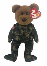 "Ty Beanie Babies Vintage Hero 8"" Military Marines Army Camouflage Bear  - $14.84"