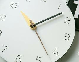 Moro Design 3 Color Hands Wall Clock non Ticking Silent Clock (Classic Yellow) image 3