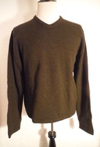Abercrombie & Fitch Dark Gray 100% Lambswool  V-neck sweater Size XL Hon... - $32.71