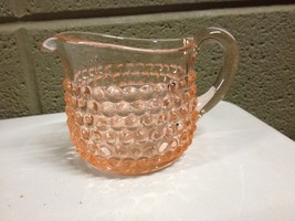 Pink Depression Indiana Glass Boopie Hobnail Creamer Pitcher (b23) - $37.39