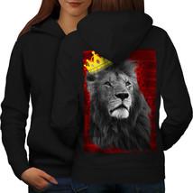 Royal Lion Kingdom Sweatshirt Hoody Cat Crown Women Hoodie Back - $21.99+