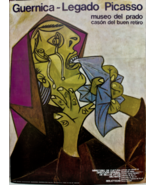Vintage Picasso Poster Print Museo  Del Prado Museum 1982 On Thick  Card... - $134.99