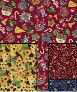 Quilt Fabrics,The Night Before Christmas Very Rare, 4 Fat Quarter Prints, OOP - $16.85