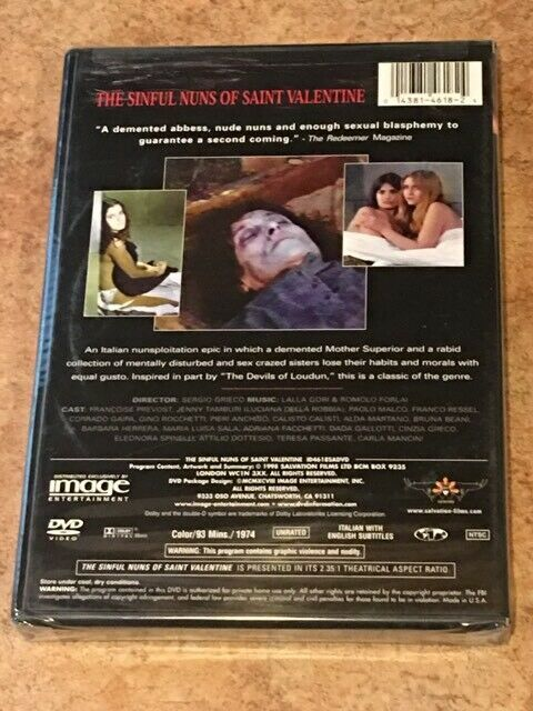 The Sinful Nuns of Saint Valentine (DVD) BRAND NEW / FACTORY SEALED *RARE OOP* image 2