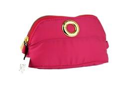 Authentic CELINE Paris Pink Nylon Canvas Pouch Bag Make Up Small Bag Acc... - $167.31