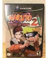 NARUTO CLASH OF NINJA 2 GAMECUBE GAME-IN MATCHING CASE - $22.01
